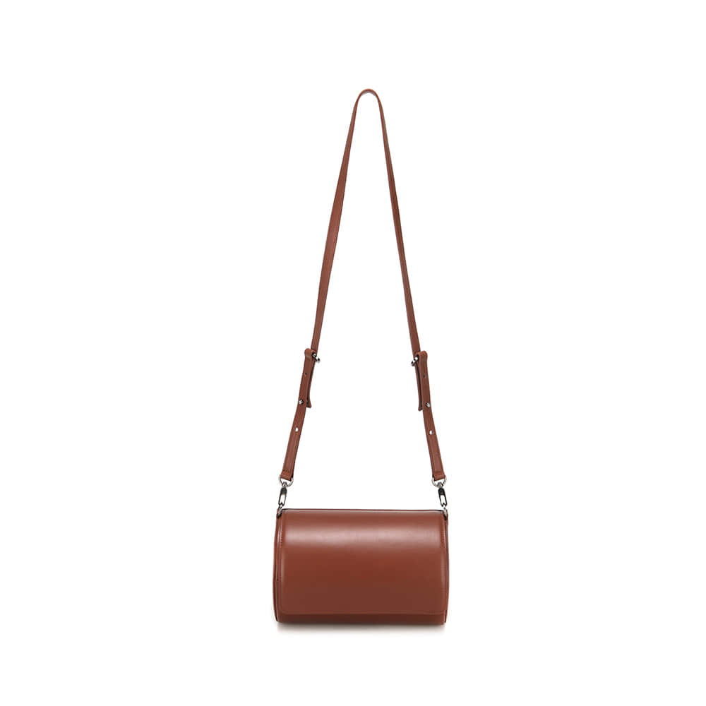 CYLINDER BAG - BROWN